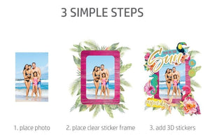 HP Moment Makers Fun in the Sun 3D Sticker Frame