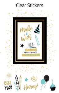 HP Moment Makers Elegant Birthday 3D Sticker Frame