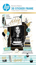 Load image into Gallery viewer, HP Moment Makers Elegant Birthday 3D Sticker Frame
