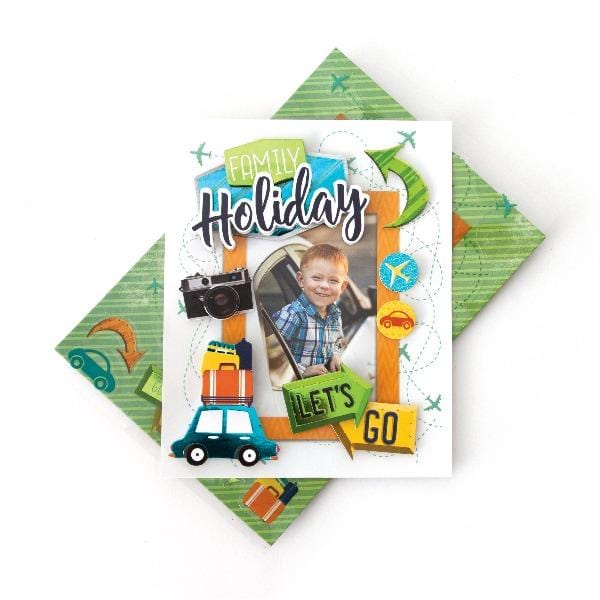 HP Moment Makers Family Holiday 3D Sticker Frame