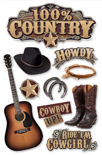 Country 3D Sticker