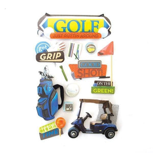 Golf 3D Sticker