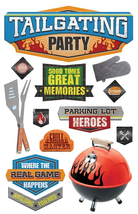 Tailgating Party 3D Sticker