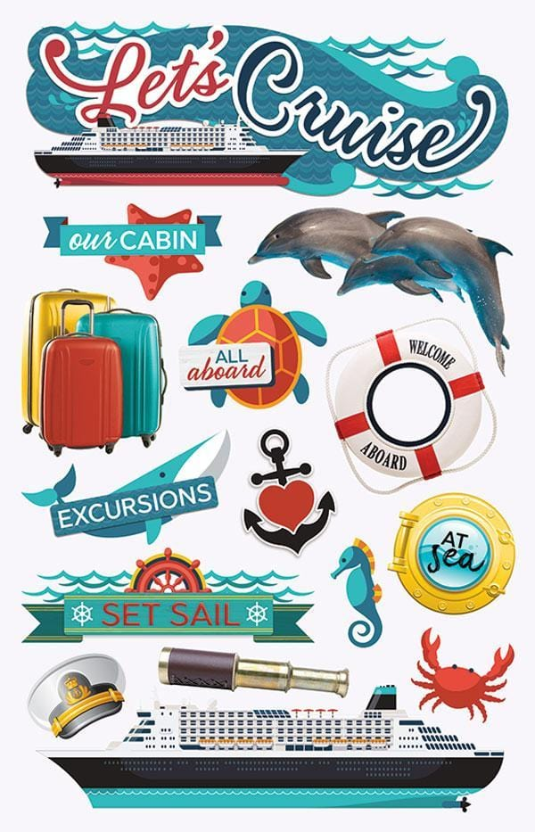 Let's Cruise 3D Sticker