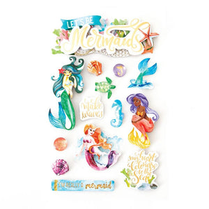 Mermaids 3D Sticker