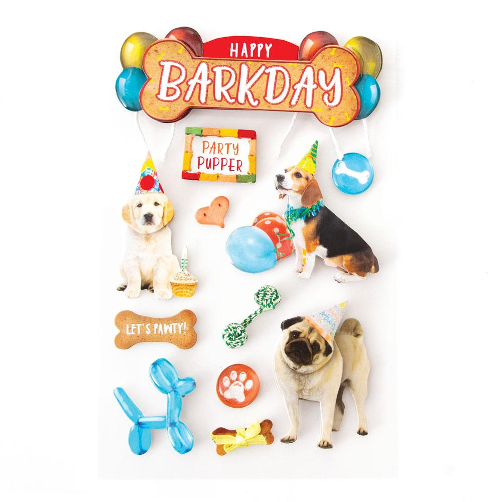 Happy Bark Day 3D Sticker