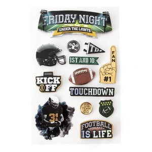 Friday Night Under the Lights 3D Sticker