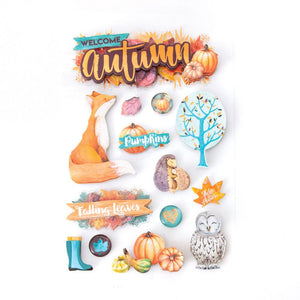 Welcome Autumn 3D Sticker