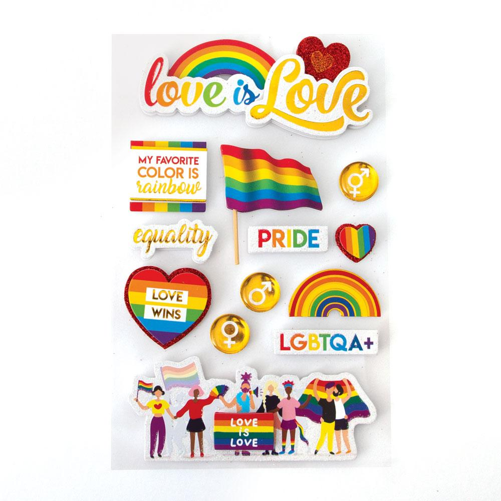 Love Is Love 3D Sticker