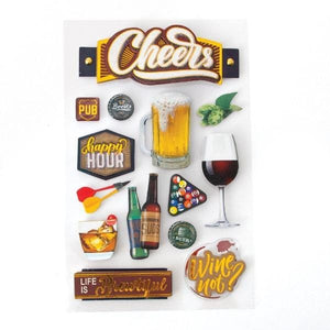 cheers II 3d sticker