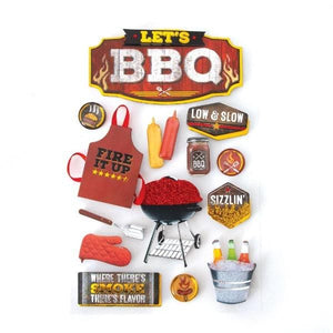 BBQ II 3D Sticker