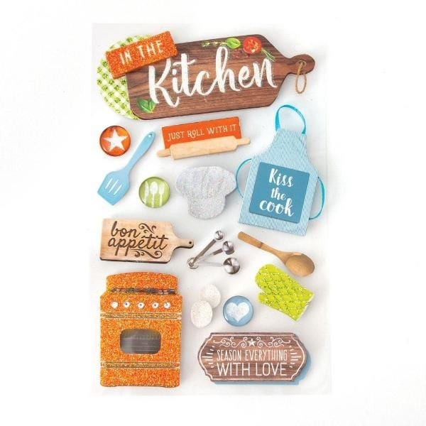 In The Kitchen 3D Sticker