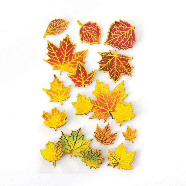 fall leaves 3d sticker