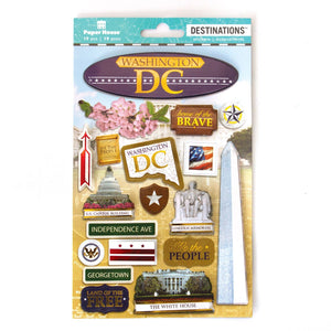 Travel-Washington DC Dimensional Sticker
