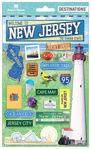 Travel-New Jersey Dimensional Sticker