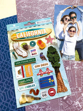 Load image into Gallery viewer, Travel-California Dimensional Sticker