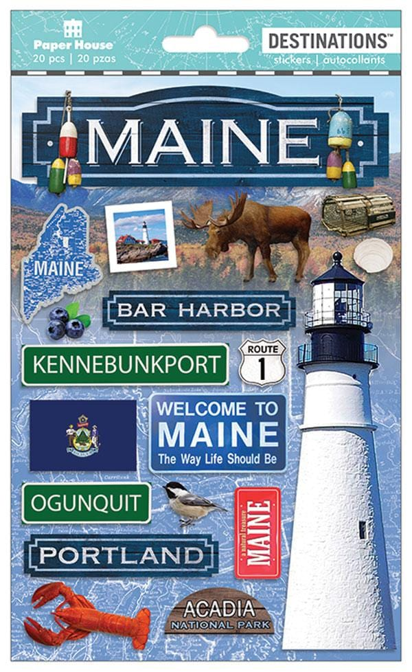 Travel-Maine 3D Sticker