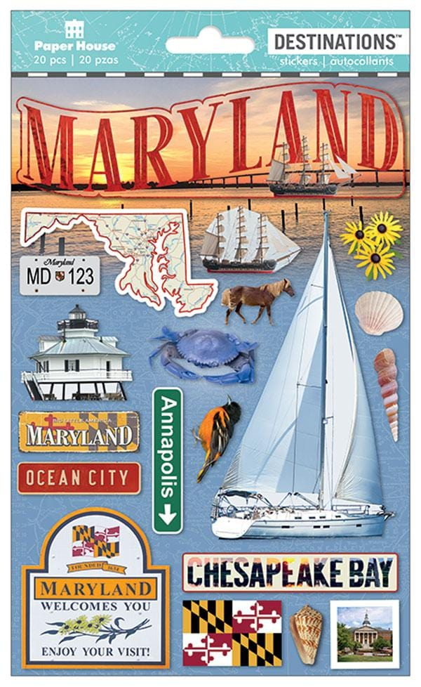 Travel - Maryland Dimensional Sticker