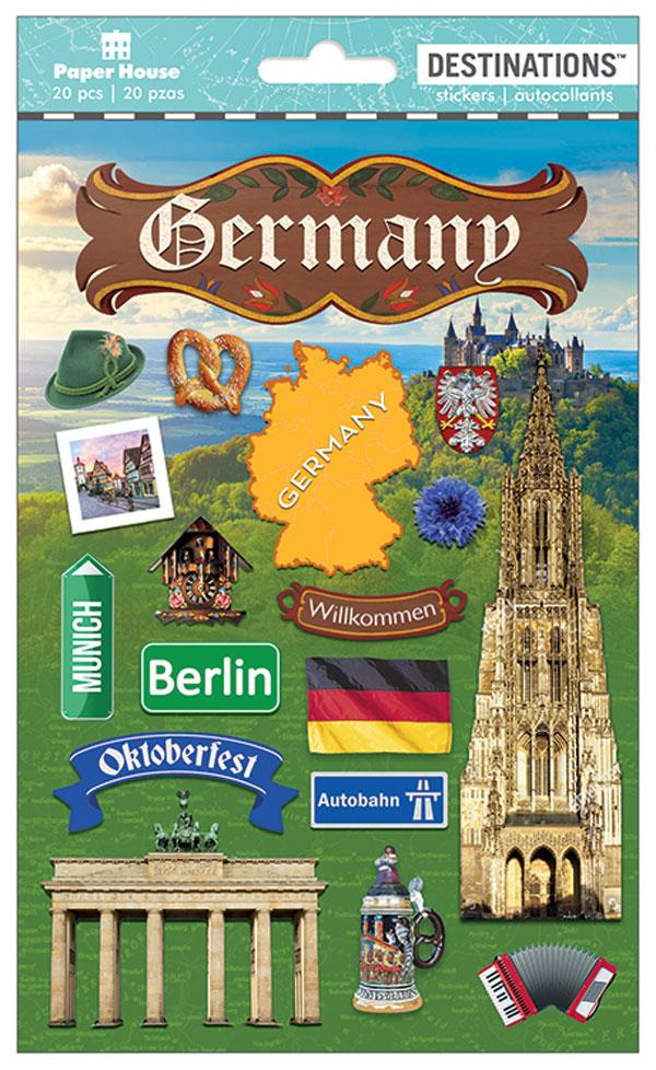 Travel - Germany Dimensional Sticker