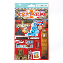 Load image into Gallery viewer, Travel-England Dimensional Sticker