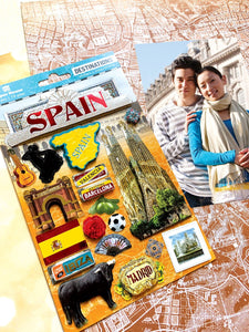 Travel-Spain Dimensional Sticker