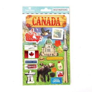 Travel-Canada Dimensional Sticker