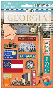 Travel-Georgia Dimensional Sticker