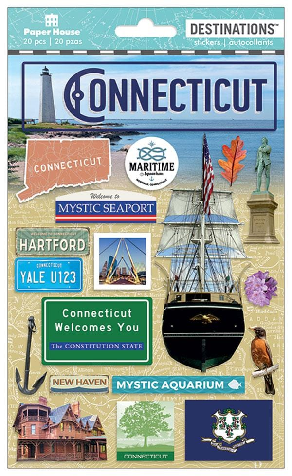 Travel-Connecticut 3D Sticker