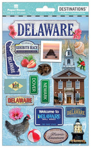 Travel-Delaware Dimensional Sticker