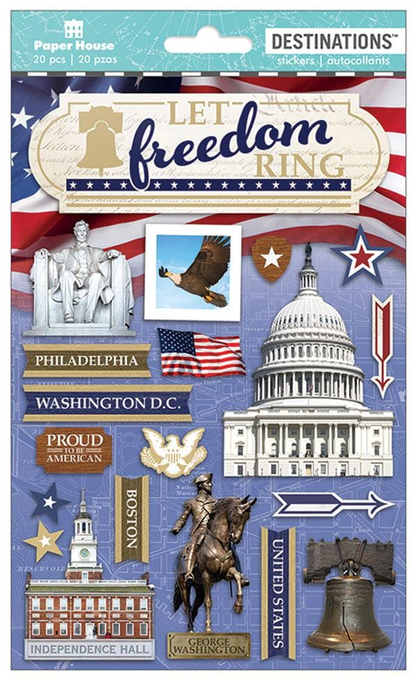 Let Freedom Ring Dimensional Sticker