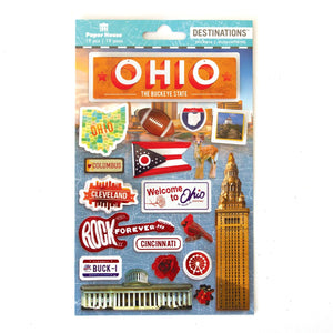 Travel-Ohio Dimensional Sticker