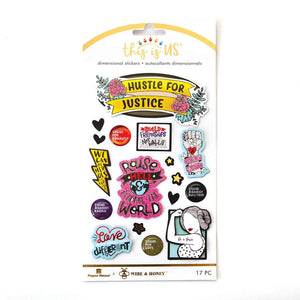 Hustle for Justice Embellished Sticker