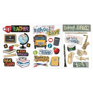 3D stickers school assortment 1