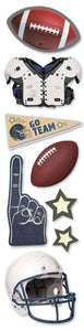 Football 3D Title Sticker