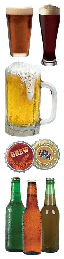 beer 3d sticker embellishments