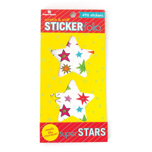 Super Stars Scratch & Sniff Sticker Folio