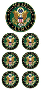 United States Army Faux Enamel Sticker