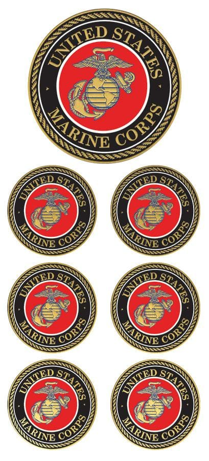 US Marines Faux Enamel Sticker