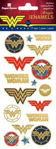 Wonder Woman™ Logos Faux Enamel Stickers