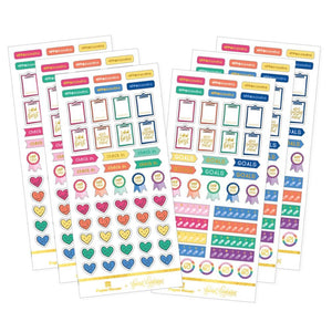 Mental Health Trackers Functional Stickers