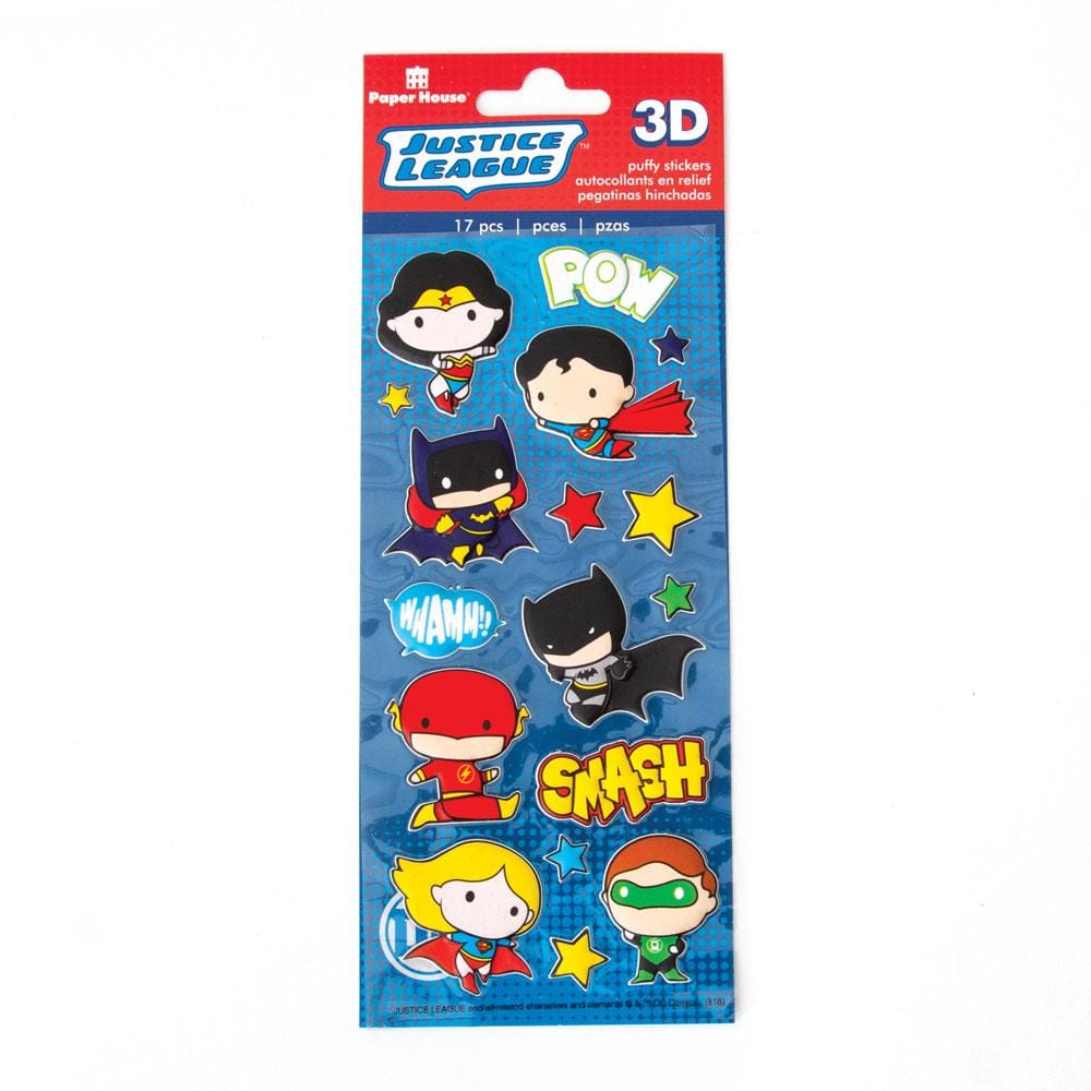 Justice League™ Chibi Heroes Puffy Stickers