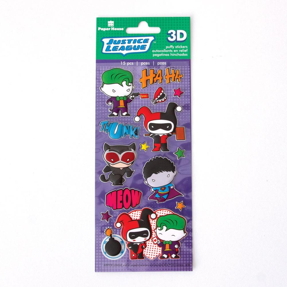 Justice League™ Chibi Villains Puffy Stickers