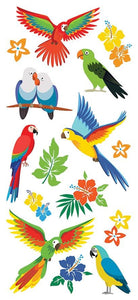 Tropical Birds Puffy Sticker