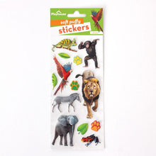 Load image into Gallery viewer, Zoo Animals Puffy Stickers