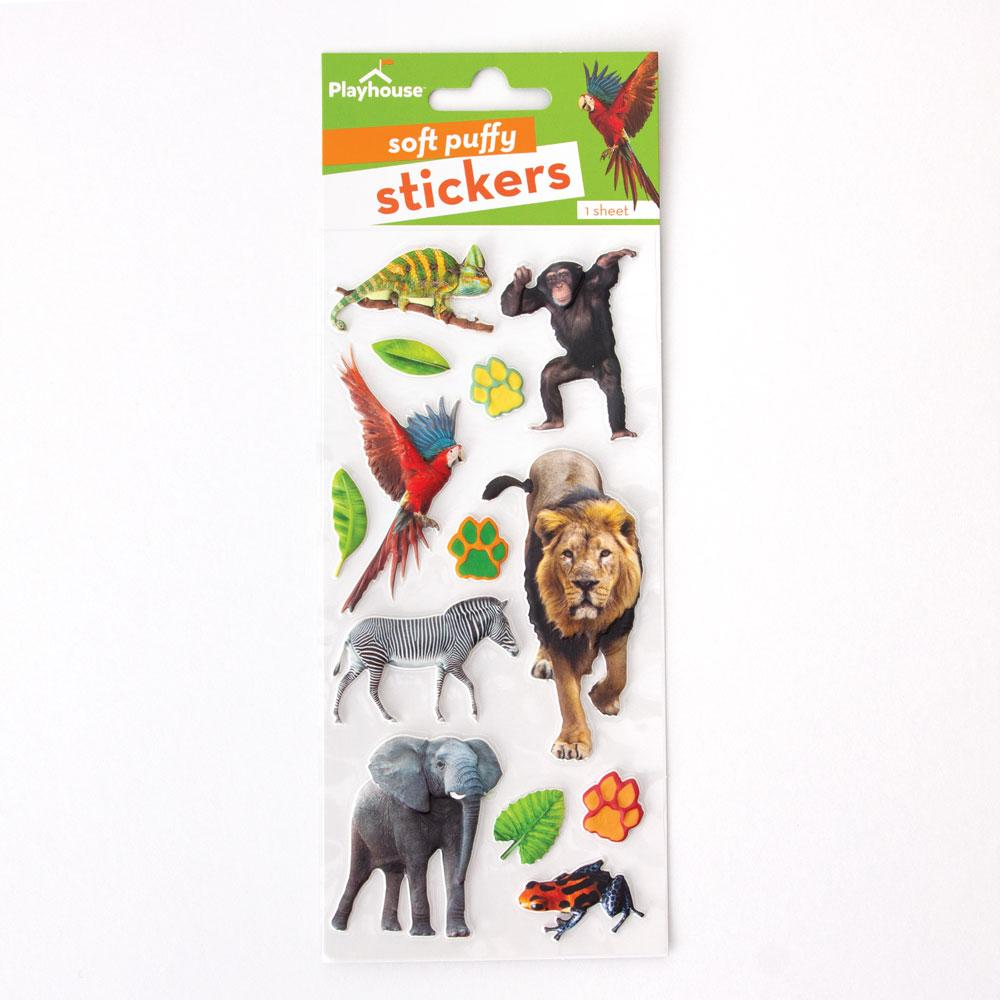 Zoo Animals Puffy Stickers