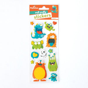 Monsters Puffy Stickers