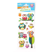 Load image into Gallery viewer, Owls Puffy Stickers