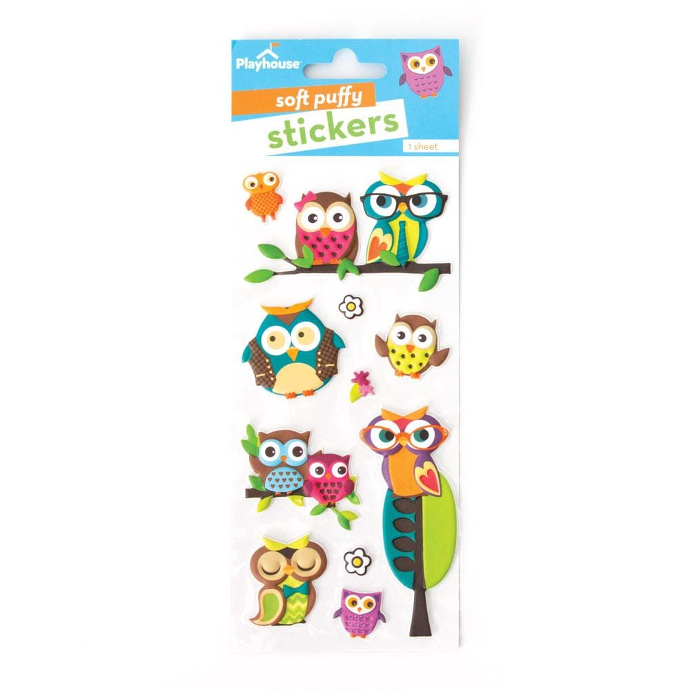 Owls Puffy Stickers