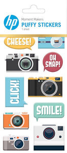 HP Moment Makers Camera Puffy Stickers
