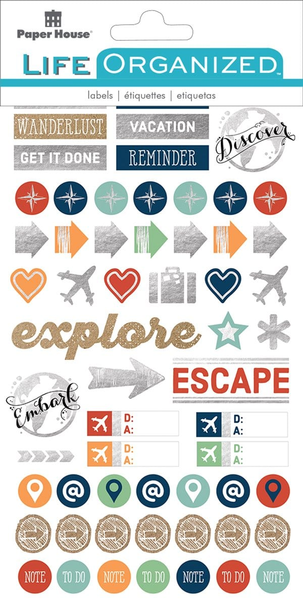 Travel Planner Stickers